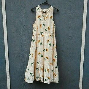 Madewell | Sleeveless daisy midi dress large